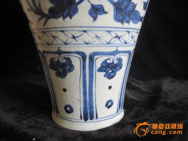 元青花花卉纹梅瓶