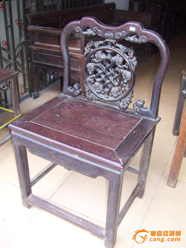 老红木酸枝中国结靠背椅单个家具收藏