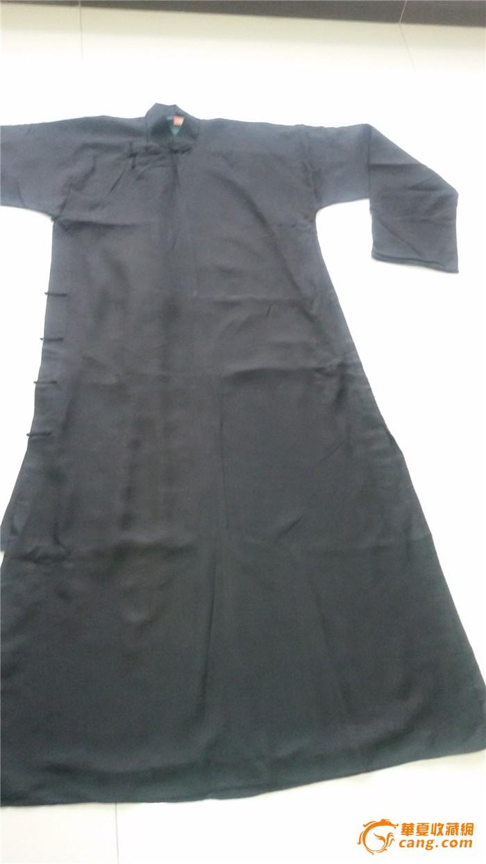 民国男士长衫黑色长袍大褂(男2)图片
