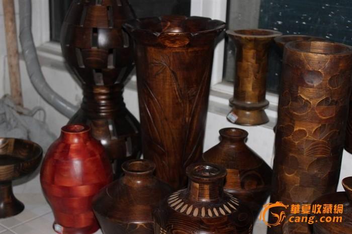 木质工艺品摆件13件
