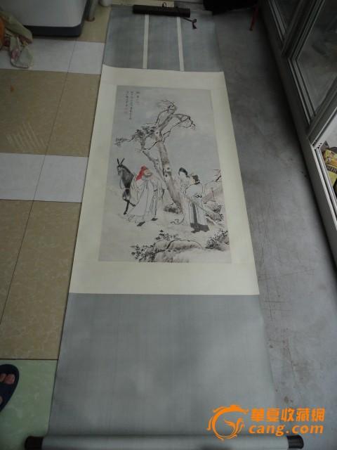 手工红木头精装裱民国时期地方名人名家绘画的 图图1