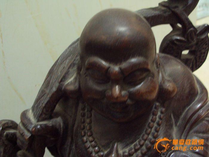 清代的红木雕弥勒佛