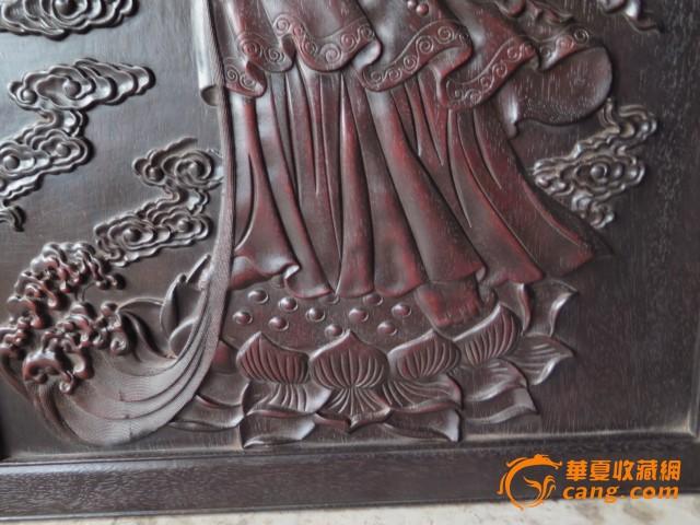红木雕刻镶嵌观音_红木雕刻镶嵌观音价格