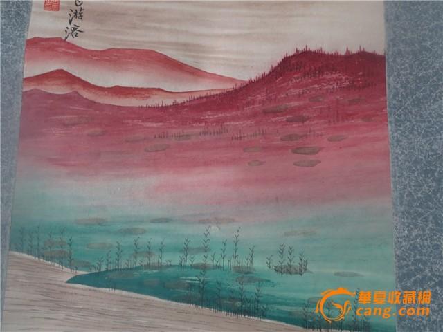 张大千 青绿山水画图片