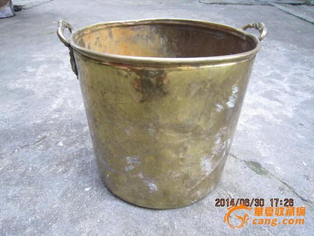 民国西洋款铜制水桶油桶收纳桶家居摆设装饰古玩收藏