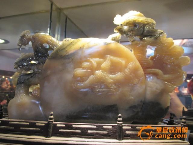 地摊 杂项 奇石 寿山冻石雕刻八仙过海摆件  编号 jy7849282 上传