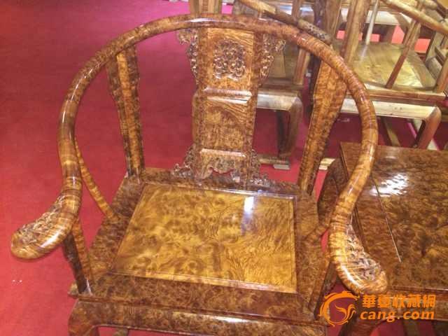 金丝楠木皇宫椅极品瘤花纹