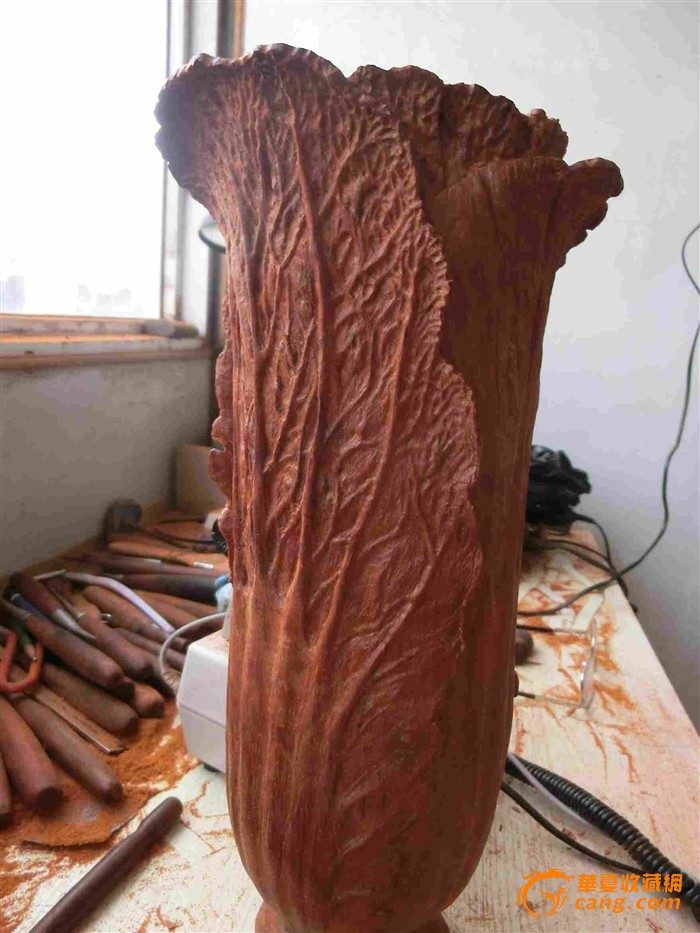 孙剑云形意-白菜为传统的雕刻项目、寓意非常丰富、首先表示清清白做人清白其...