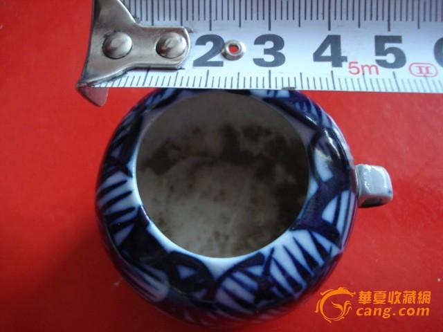 花鸟 民国/民国青花鸟食罐图8