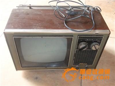 飞跃牌手调式显像管黑白电视机