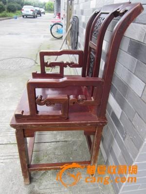 榉木雕老人椅子