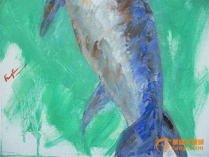 原创动物油画作品之鱼