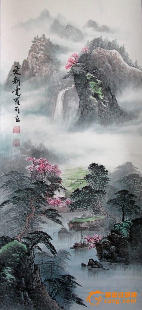精品 最低价不还价 刘伟 纯手绘 风景油画02《聚宝盆 鸿运当头》