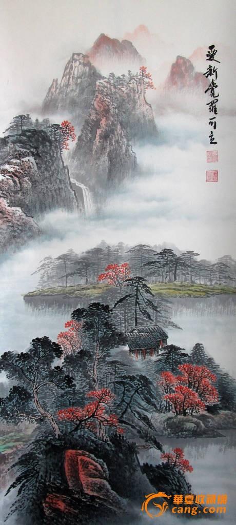 刘伟 纯手绘 风景油画02《聚宝盆 鸿运当头》 刘伟 纯手绘 风景油画01