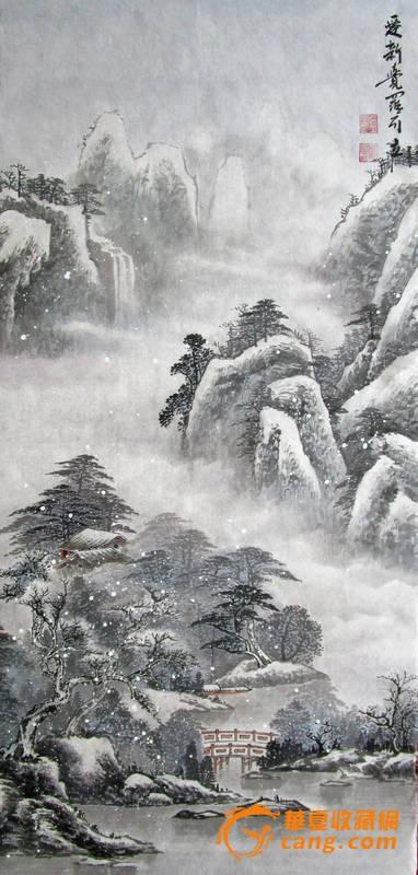 冬景马克笔手绘