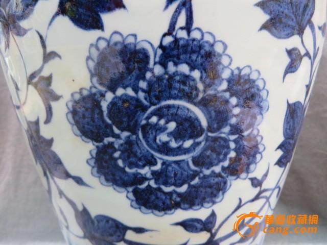 青花花纹梅瓶
