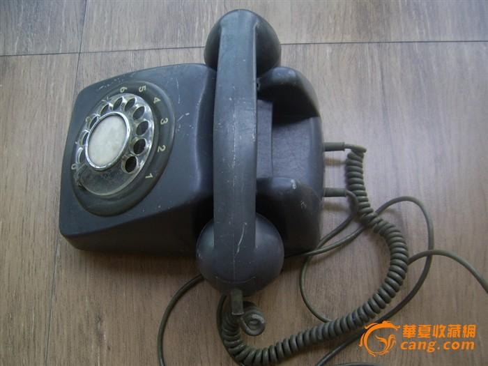 实用赏玩 交易品介绍    中国上海拨盘式老电话机,没有磕碰,拨盘旋转