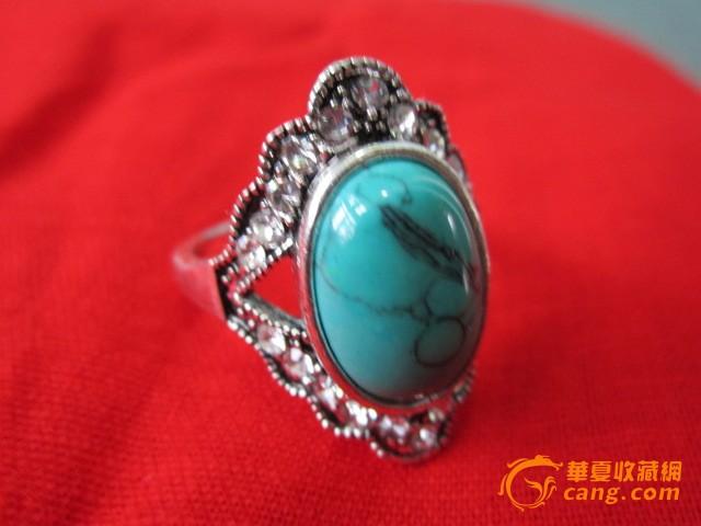 老绿松石戒指.图片