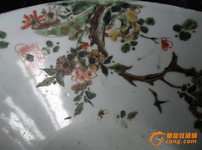 康熙五彩斗笠型大碗