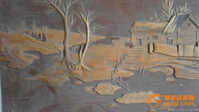 木雕风景画,包纯手工制作