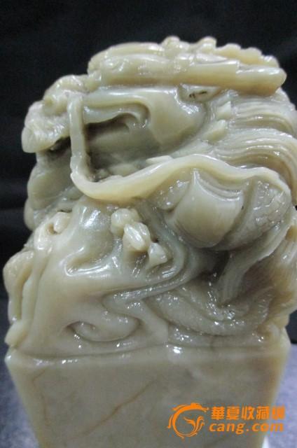 赤峰巴林石雕刻狮子章料
