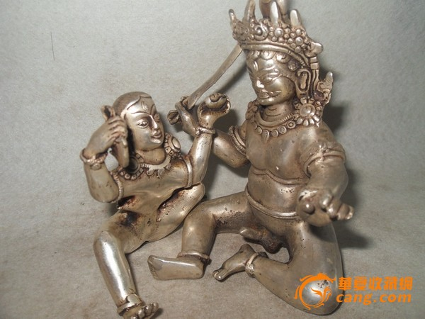 鎏银欢喜佛 鎏银欢喜佛价格 鎏银欢喜佛图片 来自藏友yuao521 铜器