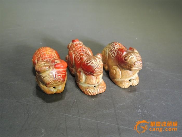 春秋战国圆雕小动物(小牛,小狗,小鹿)