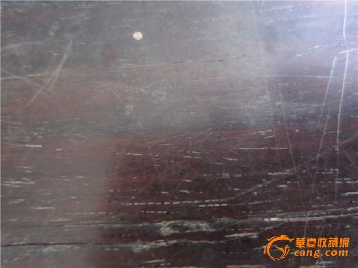 清代9档带托底老红木或紫檀木算盘一个