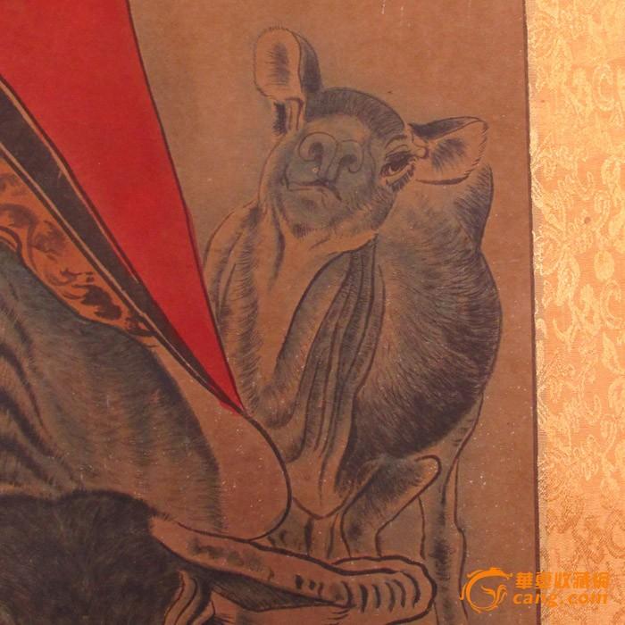 国画纯手绘人物画条幅