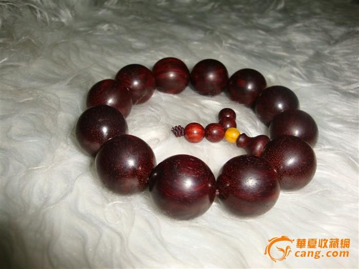 正宗老料印度小叶紫檀佛珠手串2.0