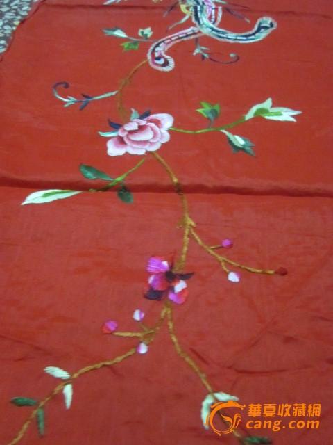 包老刺绣凤穿牡丹图片