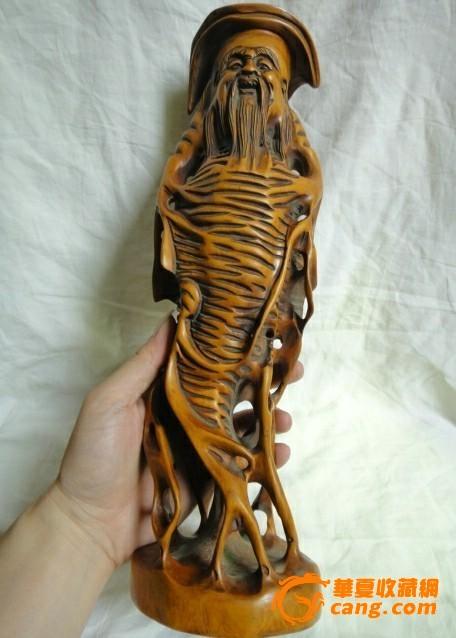 清代老黄杨木雕