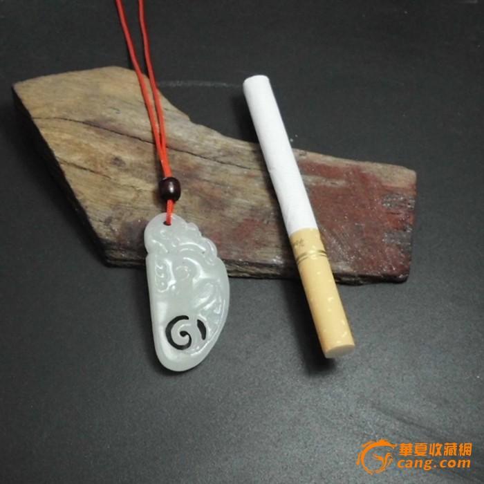 白玉/和田玉白玉籽料 龙牌挂件 吊坠图6