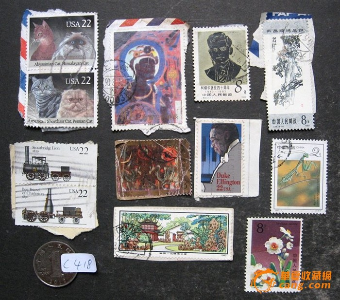 八,九十年代 邮票十二张 几十年 的木尺五把 老木器 八件 民国 壶 五
