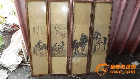 老画框老画手绘马