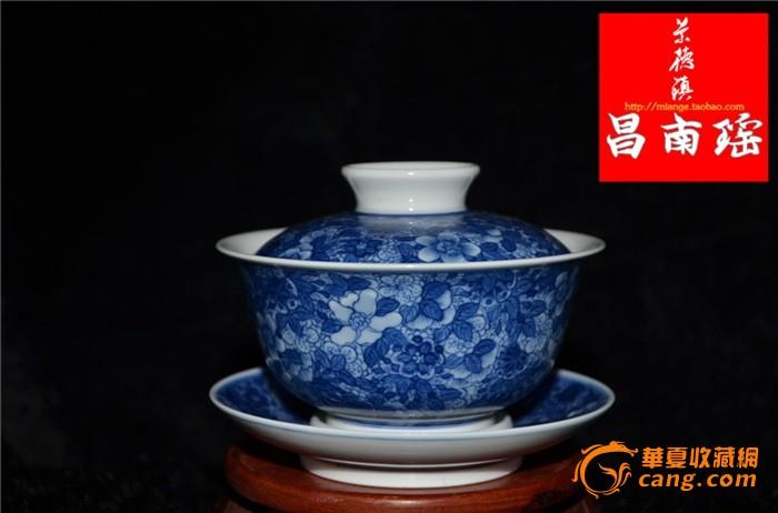 景德镇特色手绘陶瓷盖碗盖杯
