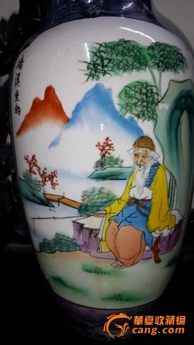 文革手绘瓶