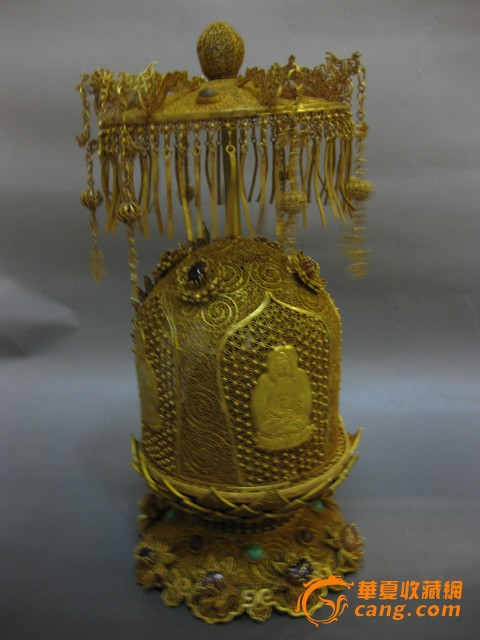银鎏金镂空佛塔_银鎏金镂空佛塔价格
