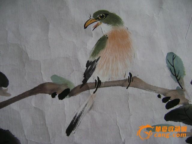 著名书画家雪舟,工笔画;春韵
