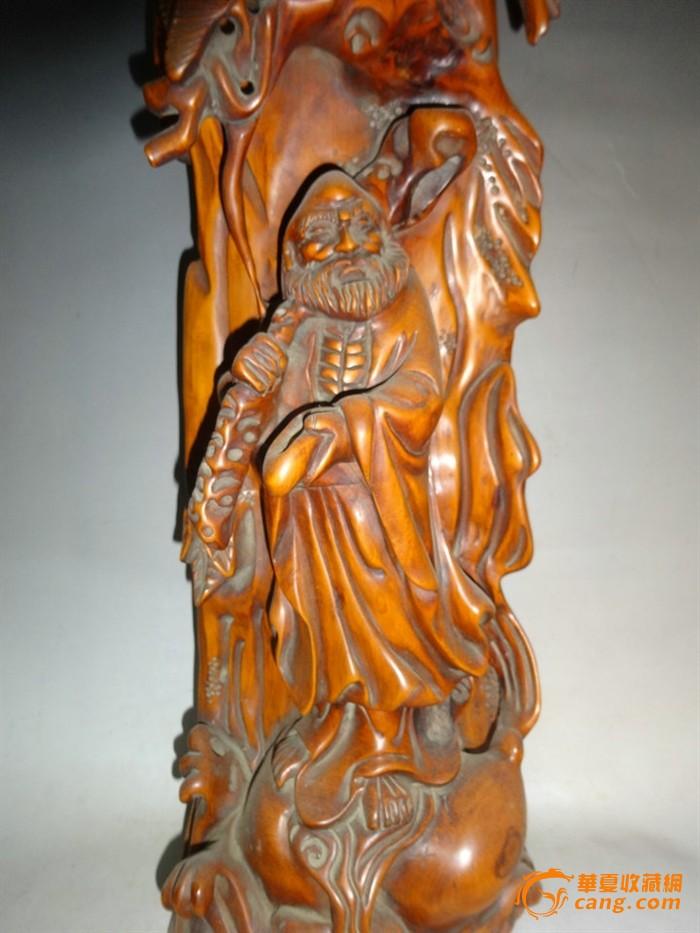黄杨木雕 黄杨木精雕刻人物 达摩像摆件