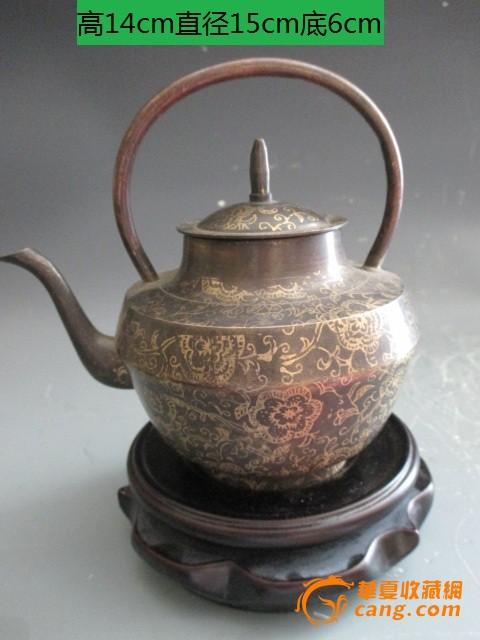 民国花纹茶壶