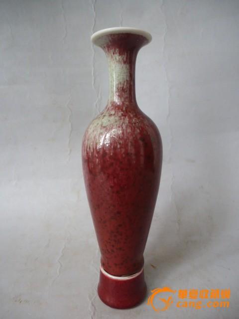 豇豆红柳叶瓶图片