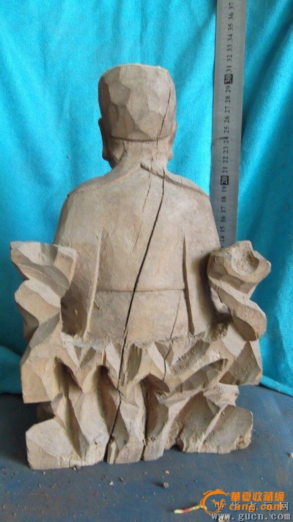 香樟木华佗雕像,包浆还可以吧