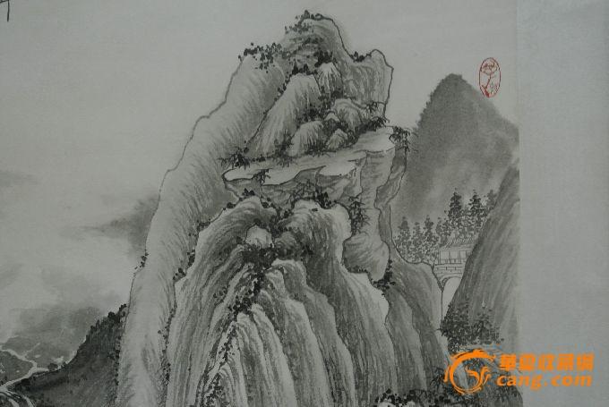 朱梅村_朱梅村作品山水画