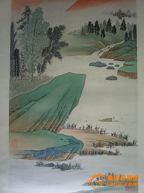 张大千绘青绿山水画图片