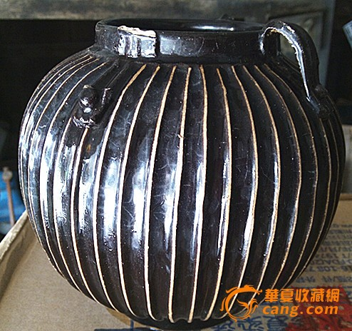 清代黑釉灯笼罐