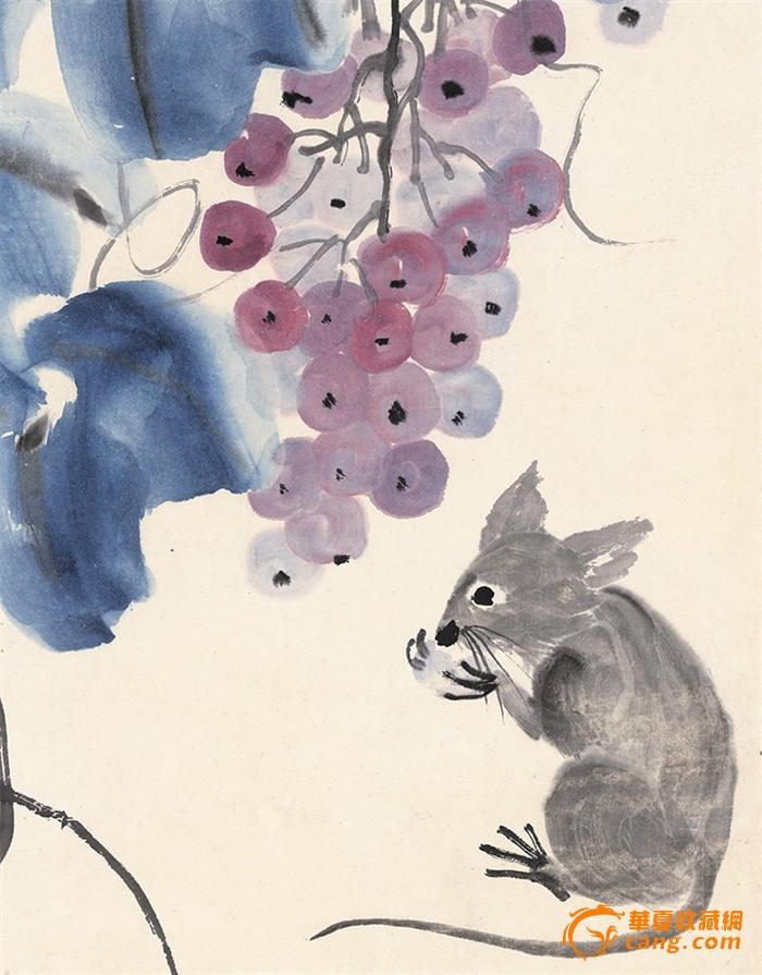 松鼠葡萄 齐白石