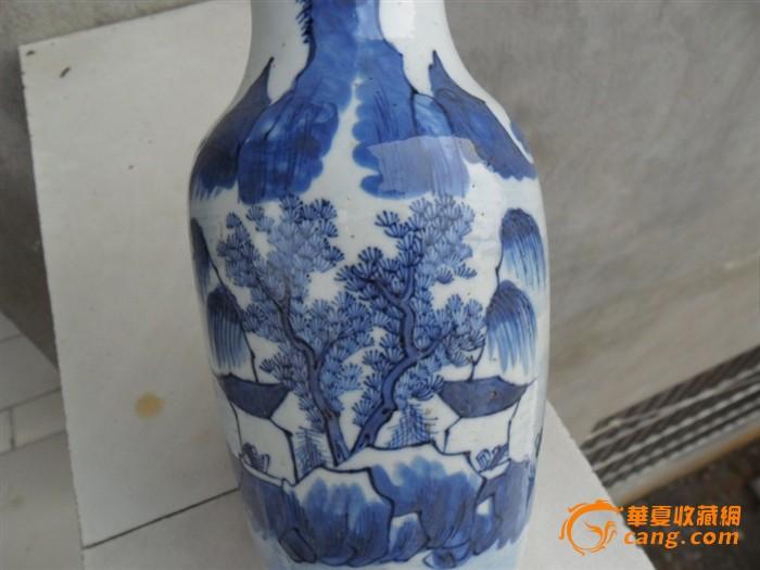 清代青花瓶子