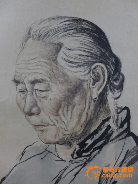 素描画人物老人