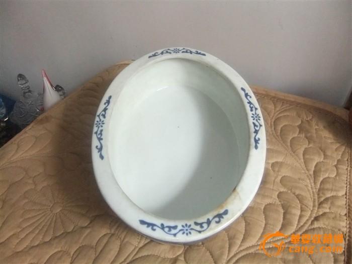 景德镇文革手绘陶瓷花盆
